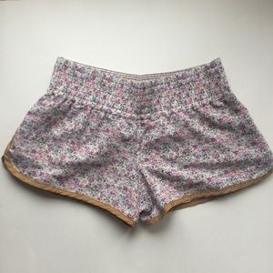 Free People Floral Print Shorts